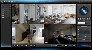 Amcrest 960H Video Security System - Four 800 TVL Weatherproof Cameras, 65ft IR LED Night Vision, 960H DVR, Long Distance Transmit Range (984ft), 500GB