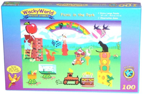 Picnic in the Park 100-piece Jigsaw Puzzle Game