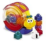 Fisher Price - Caracol bloque y música (Mattel 71922) - Un caracol con bloques para apilar y encajar, que además emite una alegre melodía - Al encajar los bloques, el caracol se balancea y suena una melodía - Funciona con pilas, incluidas - B...