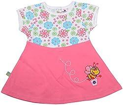 Absorba Baby Girls' Dress ( Pink_6-12 Months ,60001)