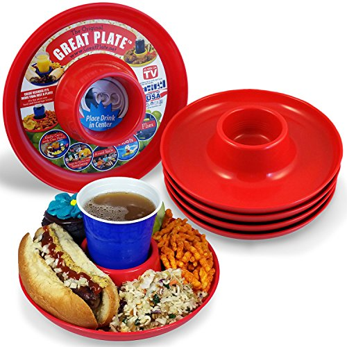Great Plate Food Beverage Plate 6 pack