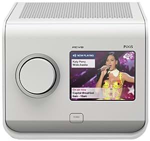 revo pixis colour touchscreen dab radio with alarm clock white tv. Black Bedroom Furniture Sets. Home Design Ideas