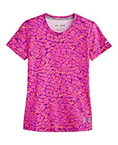 Under Armour Girls' HeatGear® Sonic Printed Short Sleeve YXS PRIDE