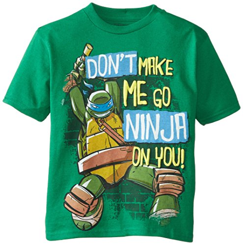 Teenage Mutant Ninja Turtles Little Boys' TMNT Don't Make Me Go Ninja On You Tee