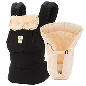 ERGO Baby Carrier Bundle of Joy -Black Camel with Infant Insert