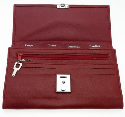 Soft Burgundy Colour Travel Document Case (Passport, Tickets, Travellers Cheques, Insurance, Money Holder etc)