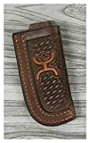 HOOey Western Knife Sheath Signature Leather Brown Orange 1460490KOR