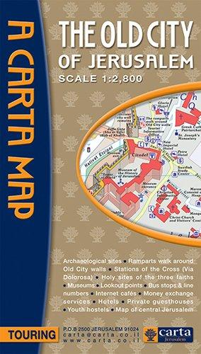 Old City of Jerusalem Map (Carta Map)