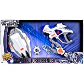 SPACE WARS SERIES: PLANET OF TOYS COMBO GUN 28CMS, LASER SWORD 61CMS (LED LIGHT AND SOUND), SHIELD, DART BLASTER...