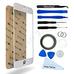 MMOBIEL Front Glass Replacement Kit for iPhone 6, 6S - White (12 Pieces)