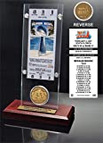 """NFL Indianapolis Colts Super Bowl 41 Ticket & Game Coin Collection, 12"""" x 2"""" x 5"""", Black"""