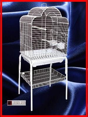 Cheap Merlin Bird Cage White Cages And White Stand Combination (800C2)