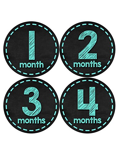 Months in Motion 431 Monthly Baby Stickers Baby Boy Chalkboard Milestone Age