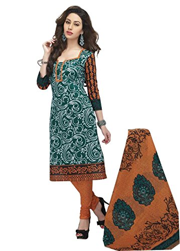 Rajnandini Women's cotton Printed Unstitched salwar suit Dress Material (multi colour _Free Size)
