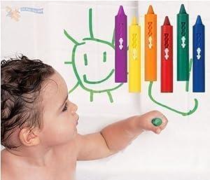 Baby Toddler Washable Bath Crayons Bathtime Fun Play Educational Toy