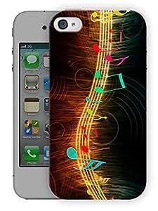 "Humor Gang Music String Printed Designer Mobile Back Cover For ""Apple Iphone 4-4S"" (3D, Matte, Premium Quality Snap On Case)"