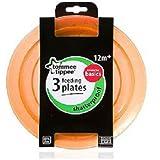 Tommee Tippee Alimentación Platos (3unidades), color naranja