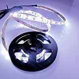 360deal Waterproof Superbright 100cm White SMD Led Strip Light Lamp with USB Cable Port 5v