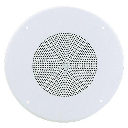 "Atlas Sound Sv1-7, 8"" Ceiling Speaker With 70V/4W Transformer, Baffle & Vol. Knob"