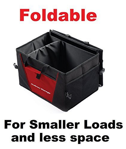 Trunk cargo organizer multi compartment heavy duty for Home construction organizer