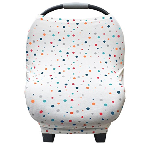 Baby Car Seat Cover Canopy and Nursing Cover Multi-Use 5 in 1