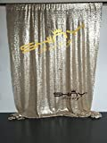 ShinyBeauty Sequin Backdrop - Backdrop Photography and Photo Booth Backdrop for wedding/Party/Photography/Curtain/Birthday/Christmas/Prom/Other Event Decor - 4FTx6FT(48inx72in) (Champagne)