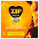 ZIP Odourless Fast & Clean Wrapped Firelighters 16 per pack Case of 4