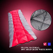 Spring Single Envelope Mummy Sleeping Bag -15℃ Camping Hiking, 31.5'*78.8', CAN Be Spliced to Couple Sleeping Bags, Carry Bag, Office Sleeping Bag, Down Sleeping Bag, Camping Sleeping Bag, Hiking Sleeping Bag, Sleeping Bag Envelope. Two Colors Available (Passion Red)