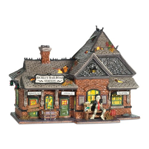 Department 56 Snow Village Halloween Rickety Railroad Station