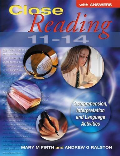 Close Reading 11-14 with Answers