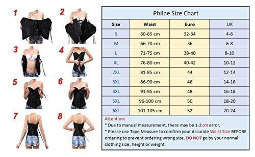 PhilaeEC-Womens-Plus-Size-Bridal-Lingerie-Lace-up-Satin-Boned-Corset-G-string