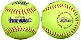 Trump® FP-EVIL-ASA-Y Evil Sports 12 Inch 47/375 ASA Mid Seam Premium Leather Fastpitch Softball (Sold in Dozens)