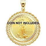 51RrAyfO18L. SL160  14K Yellow Gold Bezel for 1/4oz American Eagle Coin |E