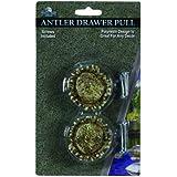 River's Edge Antler Drawer Knobs (Pack of 2), Brown