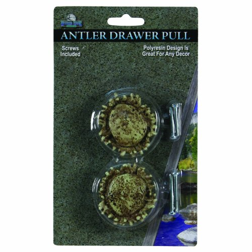 River's Edge Antler Drawer Knobs (Pack of 2), Brown (Cabinet Antler Knobs compare prices)