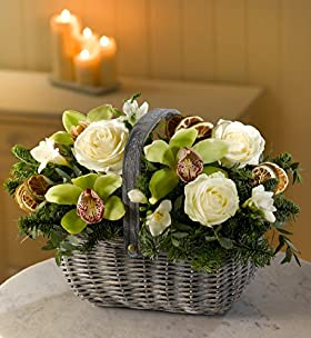 Orchid Christmas Flower Basket