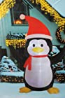 8' Ft Airblown Inflatable Penguin Lighted Christmas Yard Art Decoration