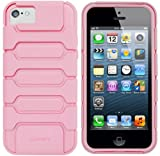 LUVVITT® ARMOR SHELL Double Layer Shock Absorbing Case for iPhone 5C (LIFETIME WARRANTY | Retail Packaging) – Pink