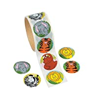 Fun Express Zoo Animal Sticker Roll N…