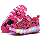 Kids Boys Girls Shoes LED Light Up Sneakers Single Wheel Double Wheel Roller Skate Shoes