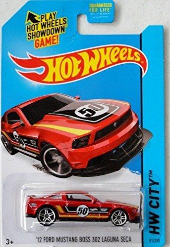 2014 Hot Wheels Hw City 91/250 - '12 Ford Mustang Boss 302 Laguna Seca (Red)