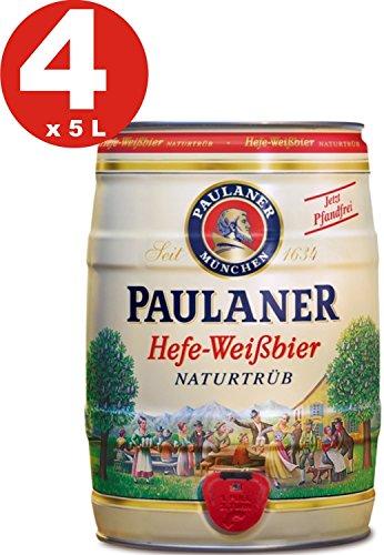 4-x-Paulaner-Hefe-Weissbier-naturtrb-naturalmente-nublado-cerveza-de-trigo-55-vol-cerveza-barril-5-litros