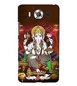 Lord Vinayaka Swamy 3D Hard Polycarbonate Designer Back Case Cover for Nokia Lumia 950 :: Microsoft Lumia 950