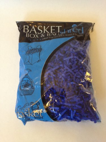 (2) Bags of Blue Crinkle Cut Paper Shred for Gift Packaging Wrap Basket Filling