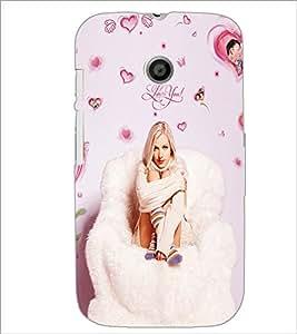 PrintDhaba Love you Girl D-1089 Back Case Cover for MOTOROLA MOTO E (Multi-Coloured)