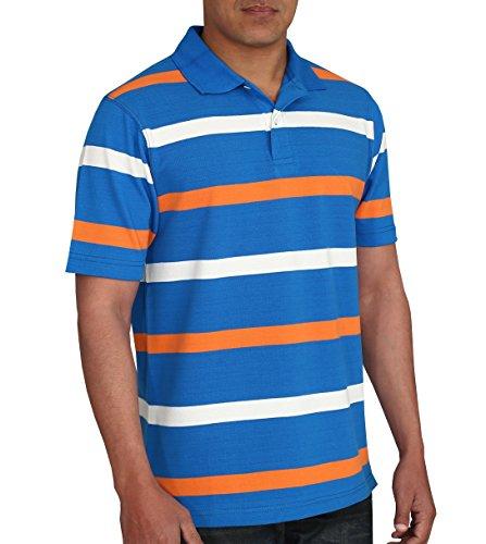 Orange Striped Polo Shirt Cotton Striped Polo Shirt