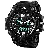 #9: SKMEI Analog-Digital Black Dial Men's Watch-AD1155 (BK WHITE)