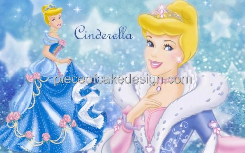1/4 Sheet ~ Disney Princess Cinderella Fancy Dress Birthday ~ Edible Image Cake/Cupcake Topper!!!