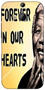 Snoogg Mandela In Our Hearts Designer Protective Back Case Cover For HTC M8
