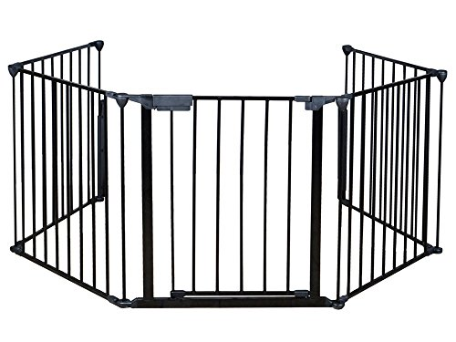 Costzon New Fireplace Fence Baby Safety Fence Hearth Gate BBQ Metal Fire Gate Pet Dog Cat (Hearth Gate Fireplace Gate compare prices)